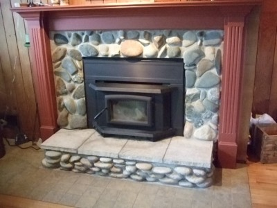 Pacific Energy Wood Insert with Custom Surround